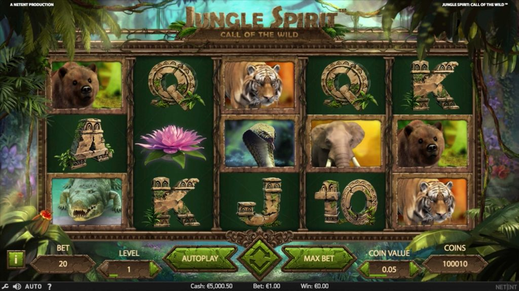 Slot Jungle Spirit Call of the Wild slot Netent