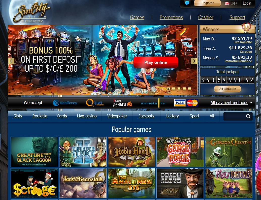 Sincity online casino review
