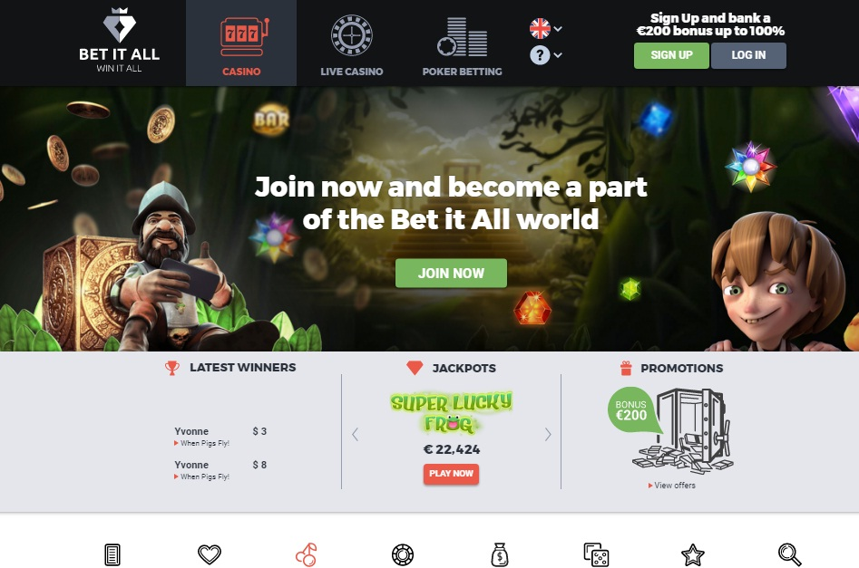 Betitall Casino review - Bet it All Casino review