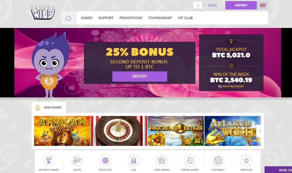 Crypto Wild Casino review