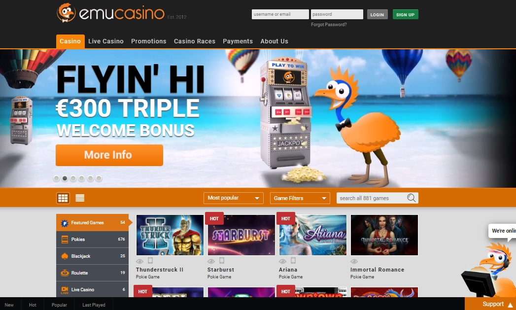 Australian online casino Emu