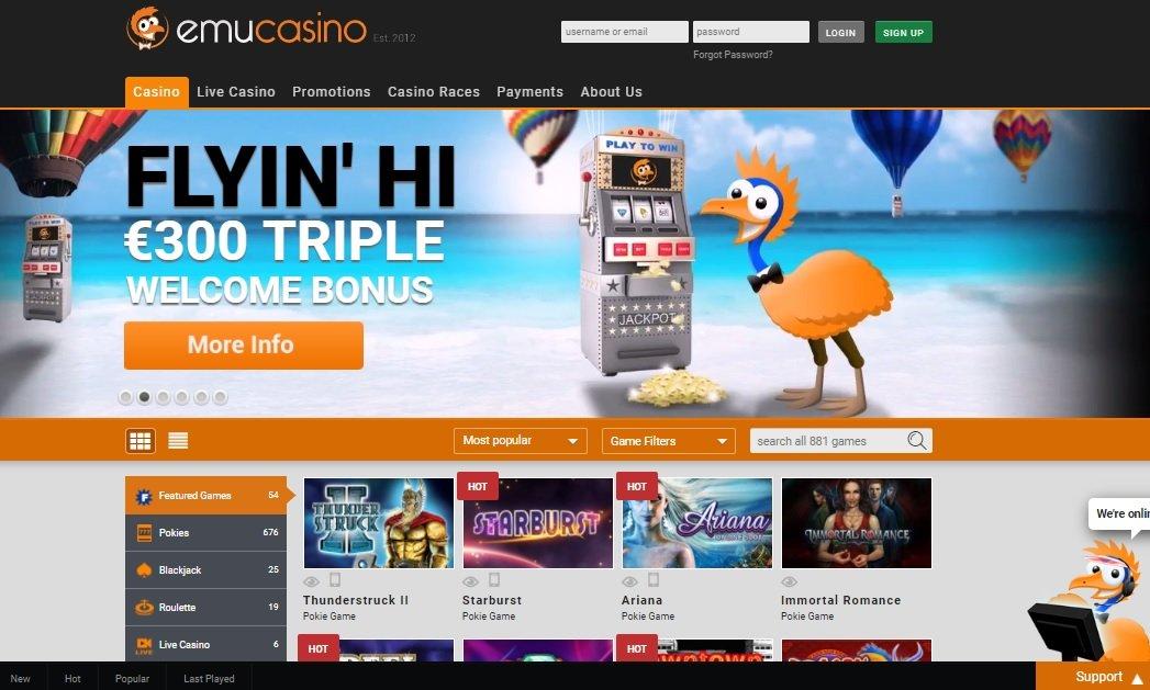 Emu online casino review