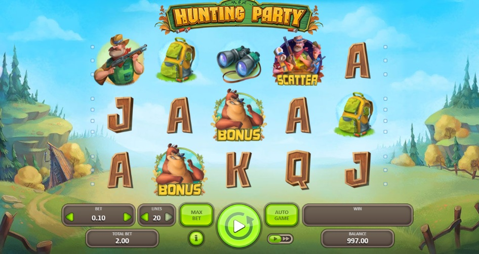 The hunting party slot review