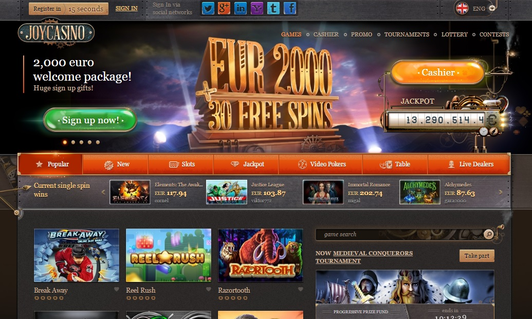 Joy online casino Poland