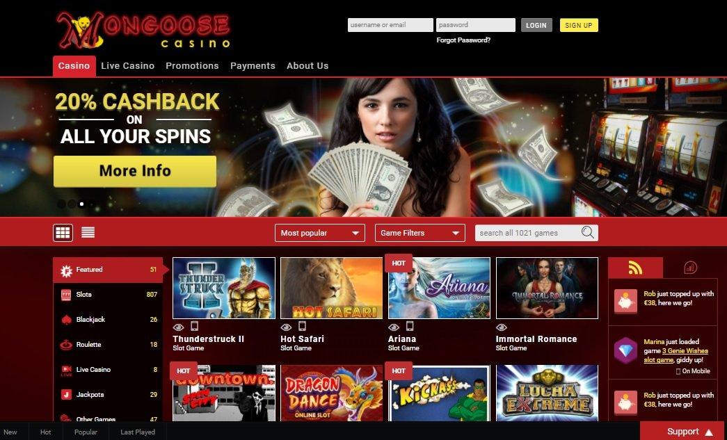 Mongoose casino review