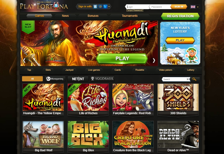 Playfortuna online casino Polish