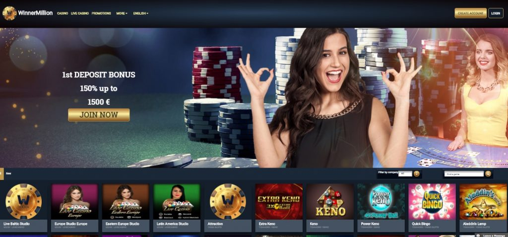 WinnerMillion Casino review