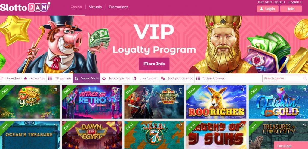 SlottoJam Casino online